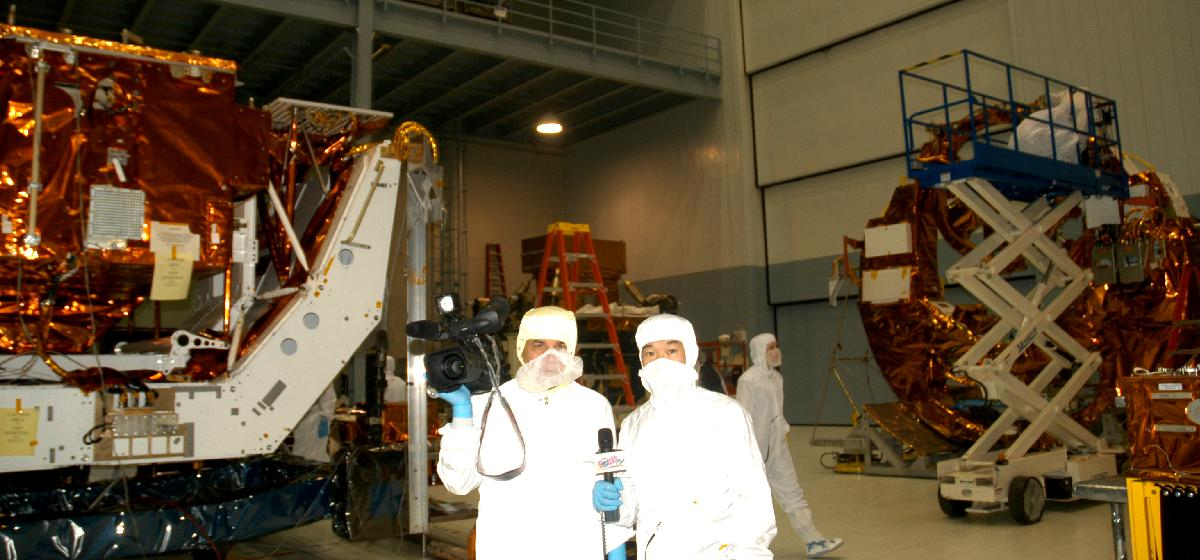 Poets TV in the SSDIF cleanroom